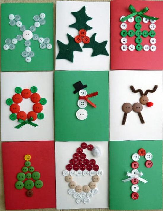 Manualidades de navidad tarjetas recicladas y originales - Tarjeta de navidad para ninos manualidades ...