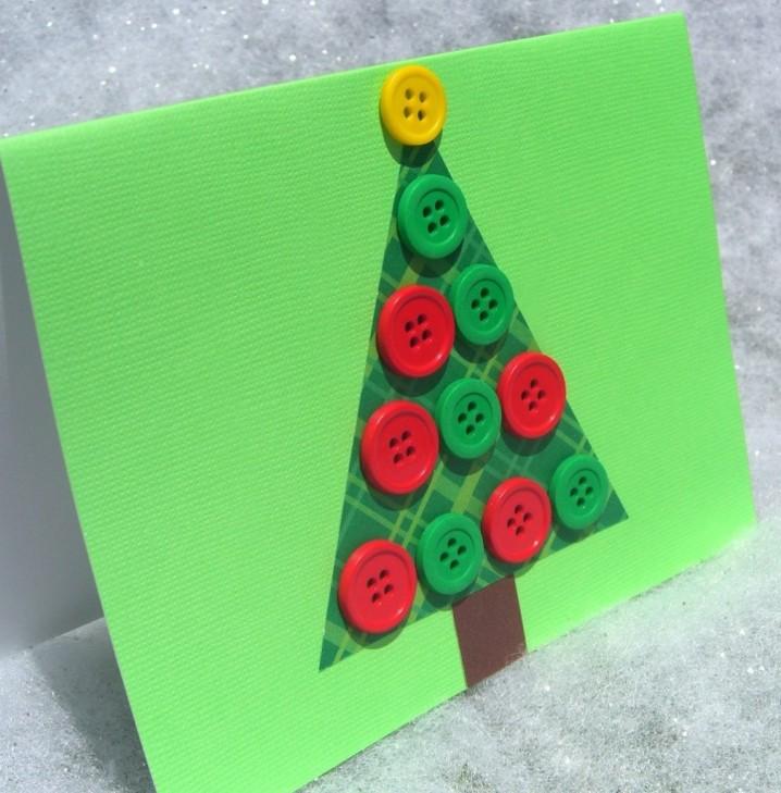 tambin podes hacer diseos originales y novedosos como los de la imagen anterior decorando tus tarjetas con distintos dibujos y motivos navideos con