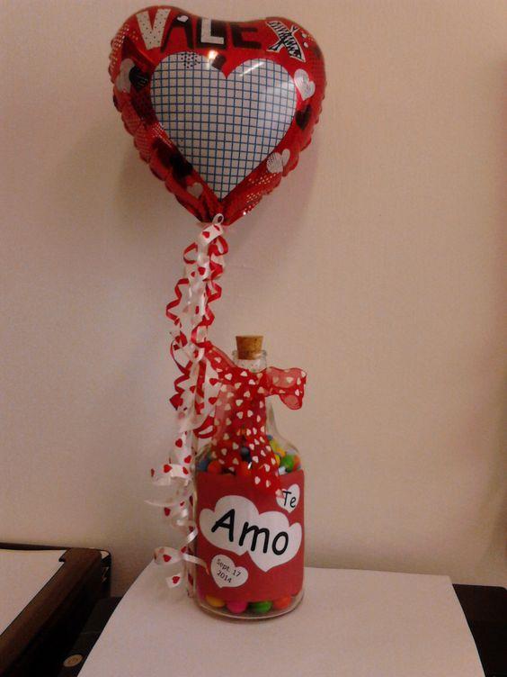 45 regalos para san valentin hechos con materiales - Botellas de vidrio para regalo ...