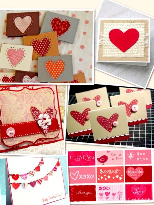 40 tarjetas de san valentin hechas con amor y materiales - Casas para belenes hechas a mano ...