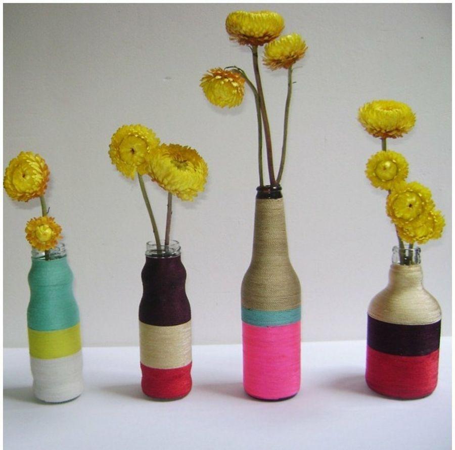 Reciclaje manualidades hechas con botellas de vidrio ecolog a hoy - Fabrica de floreros de vidrio ...