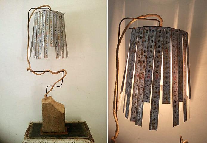 Lámparas hechas con materiales reciclados – ecología hoy