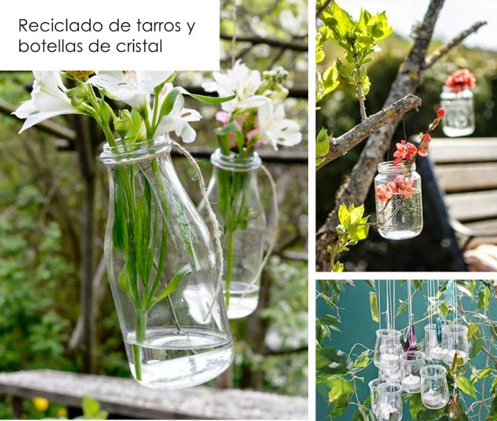 Manualidades con materiales reciclados para el jardin for Decorar el jardin con cosas recicladas