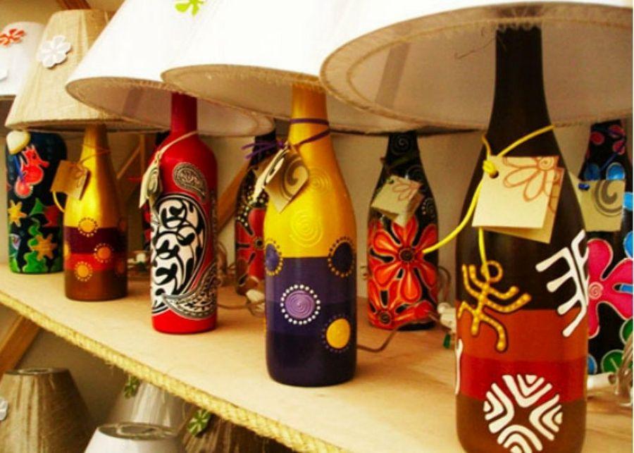 Reciclaje: Manualidades Hechas Con Botellas De Vidrio
