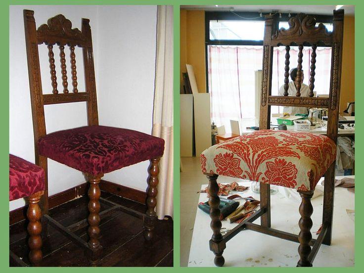 Tela para sillas de comedor combo mesa sillas de aluminio for Reciclar muebles viejos