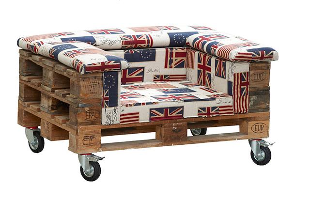 Troncos palets y tablas para r sticos sillones y bancos for Reciclado de palets sillones