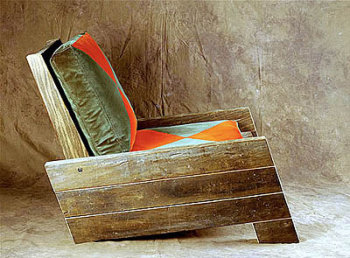 Troncos palets y tablas para r sticos sillones y bancos for Restos de azulejos baratos