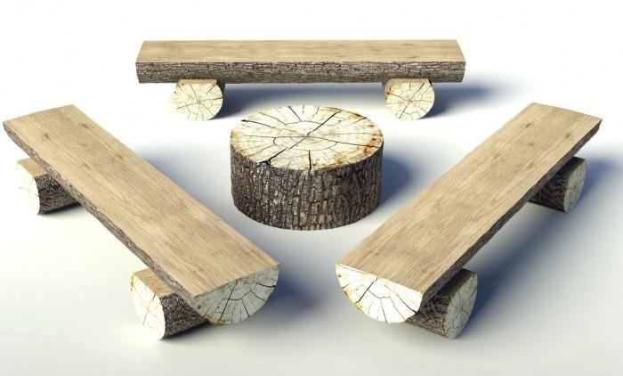 Troncos palets y tablas para r sticos sillones y bancos - Imagenes de bancos para sentarse ...