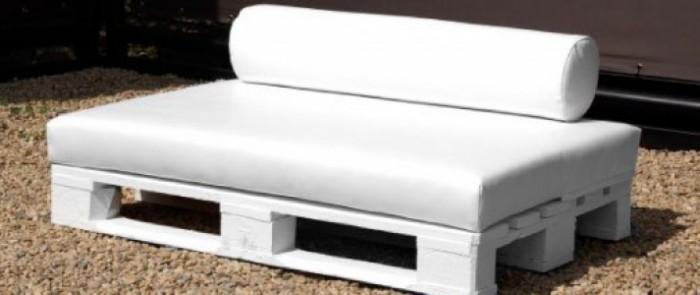 Troncos palets y tablas para r sticos sillones y bancos - Hacer un banco con palets ...