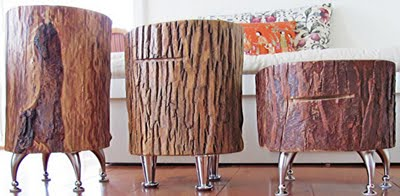Troncos palets y tablas para r sticos sillones y bancos for Como tratar un tronco de madera para decoracion
