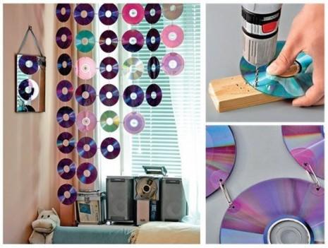 Como-hacer-una-cortina-con-CDs-reciclados