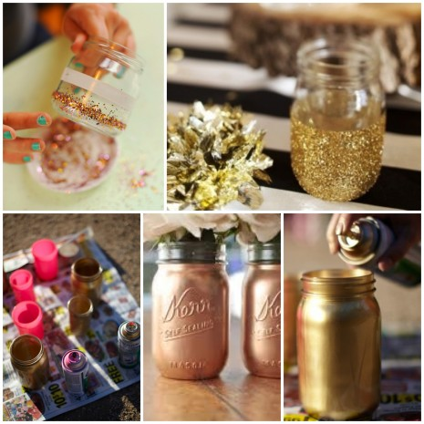 DIY-gold-mason-jars-_-glitterweddings.com_