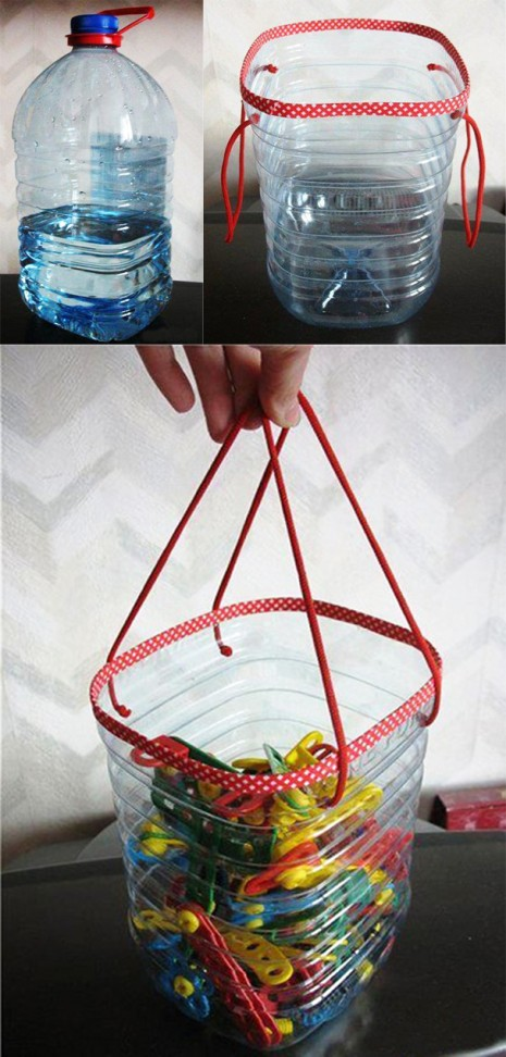 cesta-reciclando-botella-pet-diy-muy-ingenioso