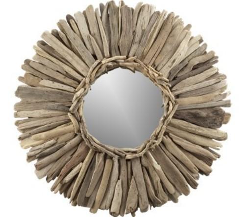 50 marcos de espejos hechos con materiales reciclados for Como hacer un espejo con marco de madera