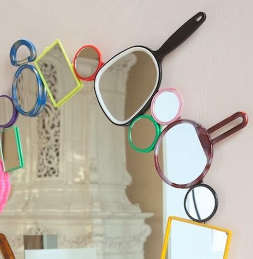 50 marcos de espejos hechos con materiales reciclados for Espejos de pared originales