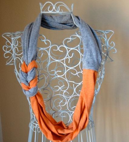 bufanda infinita trenzada con remeras recicladas reciclar ropa reciclaje prendas costura facil moda barato ahorro manualidades tutoriales paso a paso