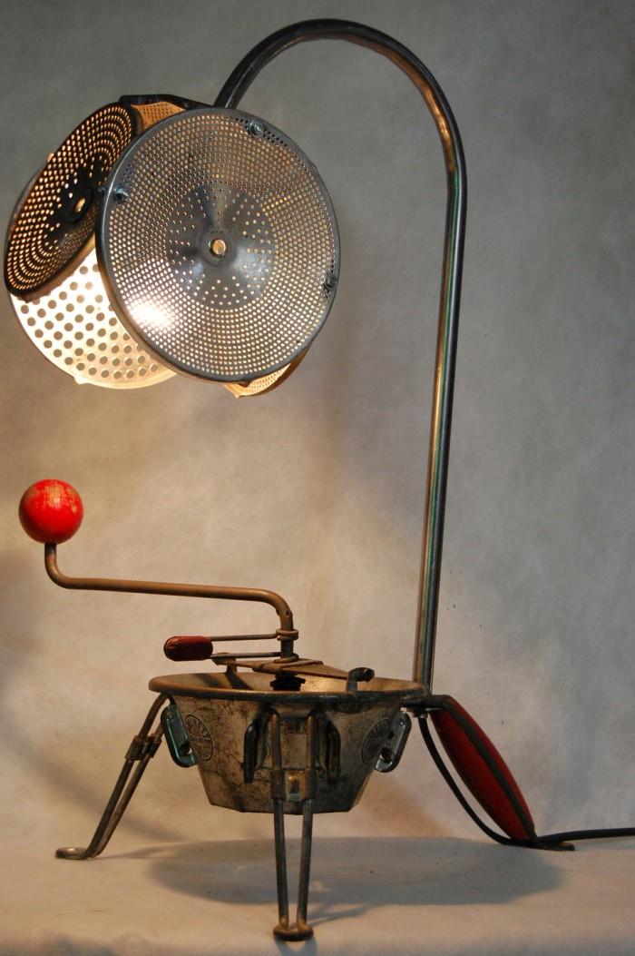 L mparas recicladas 45 ideas originales para hacer for Articulos cocina originales