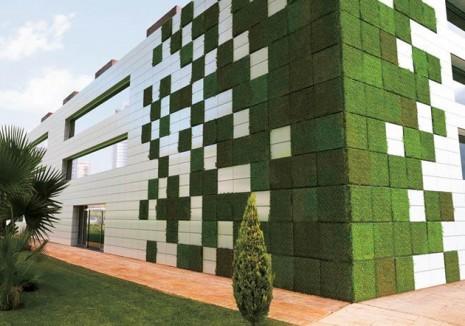 Casas sustentables tendencia en la construcci n moderna for Muros y fachadas verdes jardines verticales