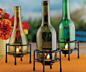 vidriobutelkowe świeczki