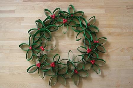 coronas de navidad recicladas8