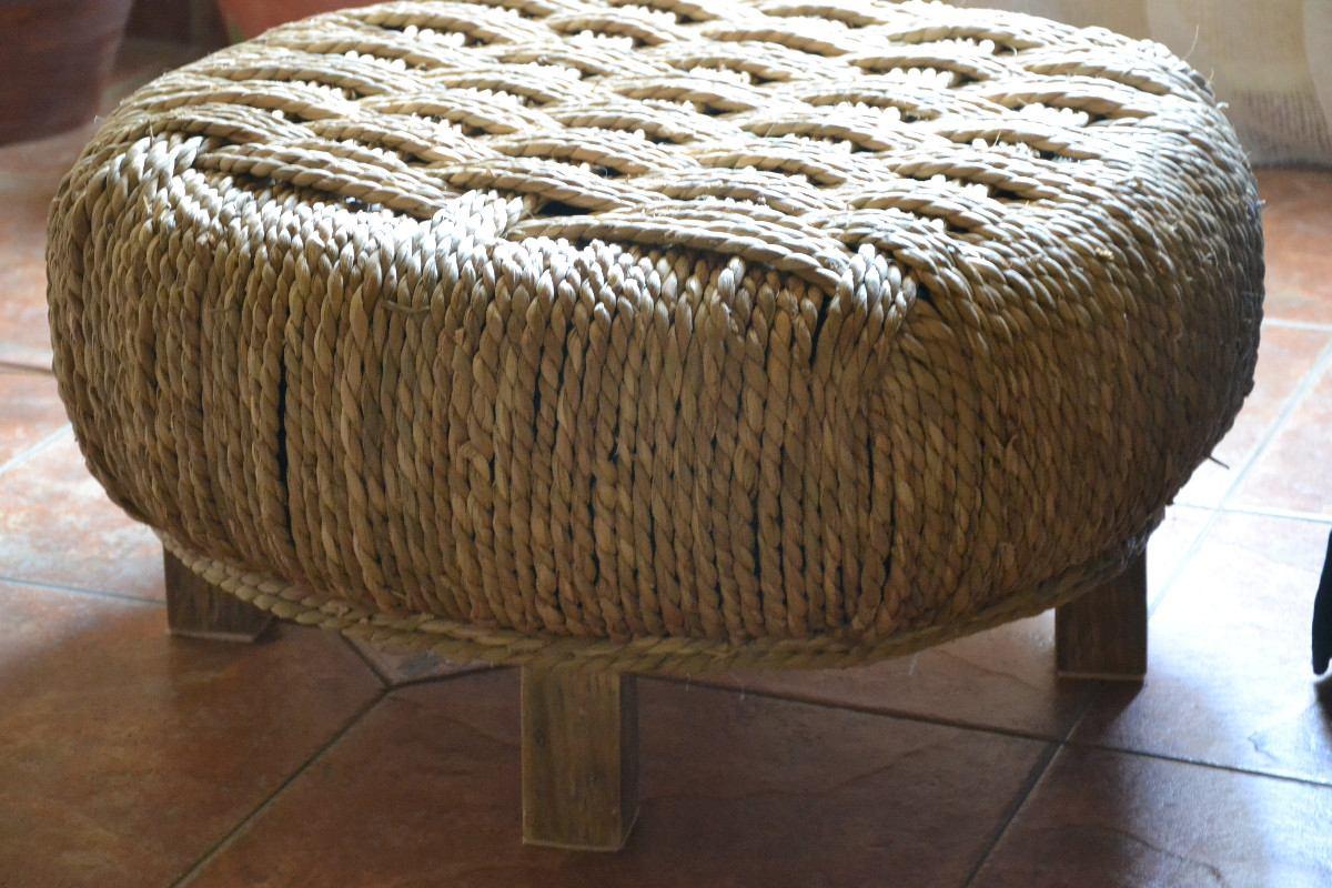 15 ideas de reciclados originales muebles objetos - Como hacer un puff redondo ...