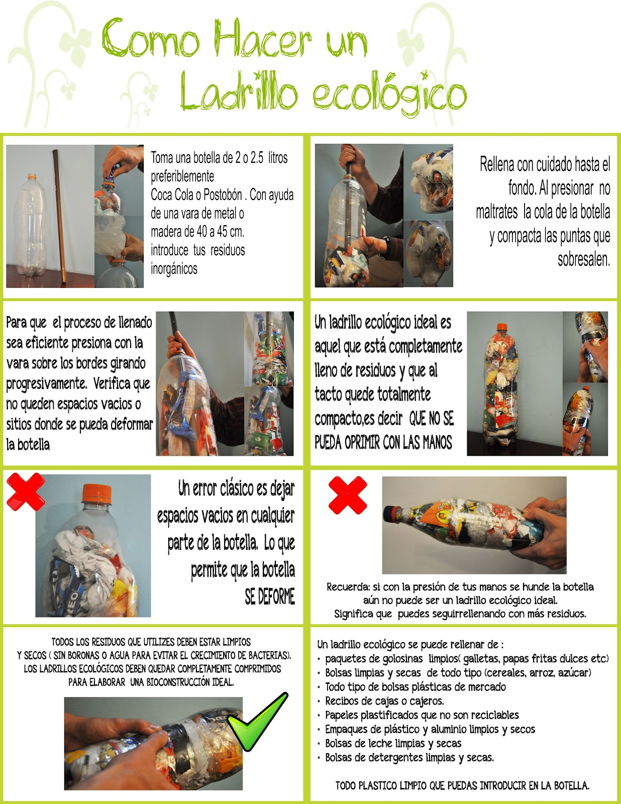 instructivo ladrillos ecologicos