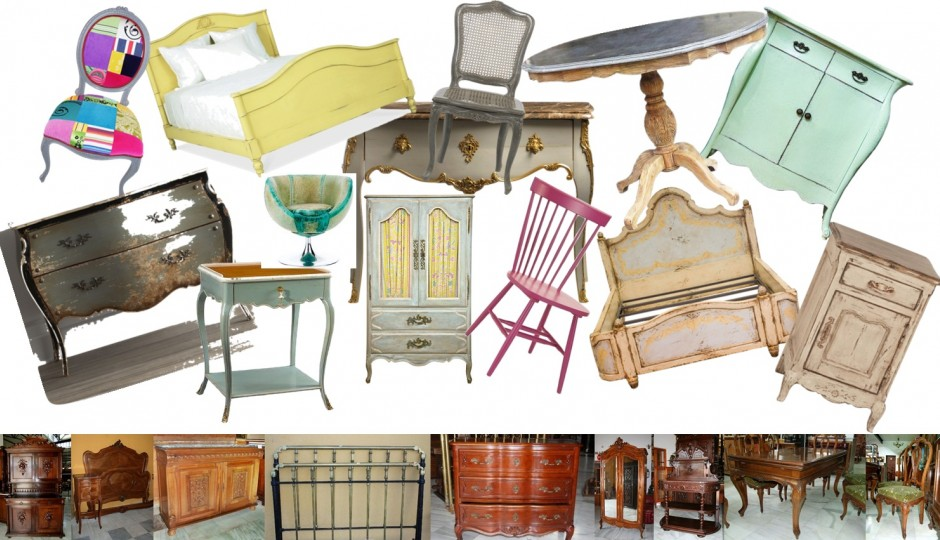C mo reciclar y decorar con lo viejo ideas f ciles y for Vintage muebles y objetos