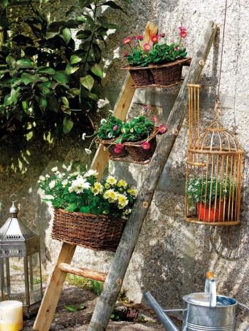 vintageDecorar-el-jardin-con-escaleras-350x466