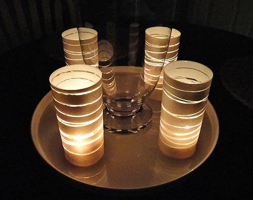 Originales y hermosos portavelas hechos con vasos de vidrio decorados ecolog a hoy - Portavelas grandes ...