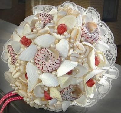 ramo de novia caracolas