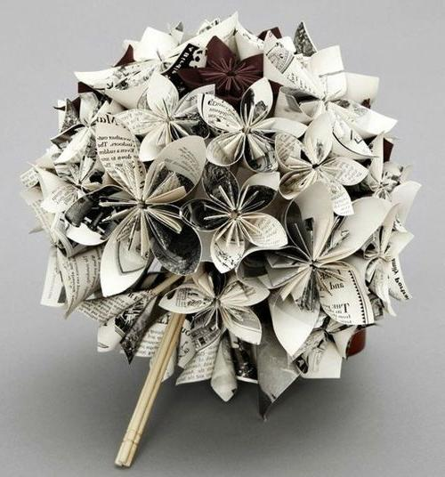 ramos-de-novia-con-papel-periodico