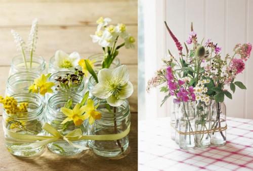 Centros de mesa para primera comuni n con frascos de vidrio ideas geniales ecolog a hoy - Fabrica de floreros de vidrio ...