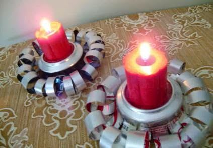 candelabros con materiales reciclados91