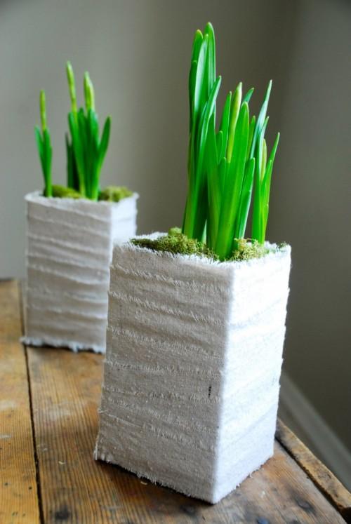Reciclar cartones de leche macetas con diferentes objetos - Tiestos de madera ...