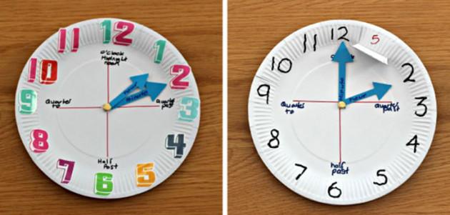 platosManualidades_para_aprender_la_hora_reloj_de_aguja-630x301
