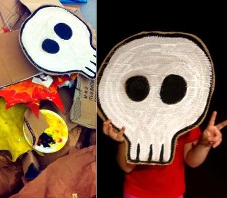 nocheIdeas para Reciclar Carton en Halloween1