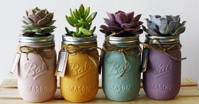 Reciclar frascos de vidrio centros de mesa hermosos para for Envases de vidrio decorados