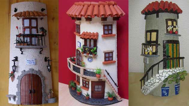 Ideas de decoraci n con cosas recicladas para decorar la casa ecolog a hoy - Accesorios para decorar tejas ...
