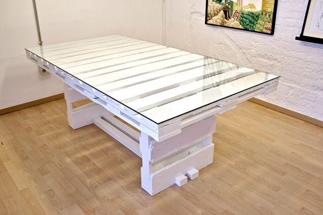 Ideas de mesas recicladas hechas con palets para el comedor ...