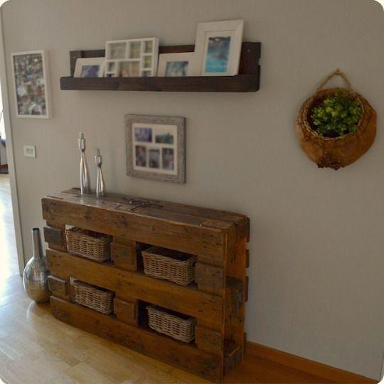 Ideas de mesas recicladas hechas con palets para el - Ideas para hacer muebles con palets ...