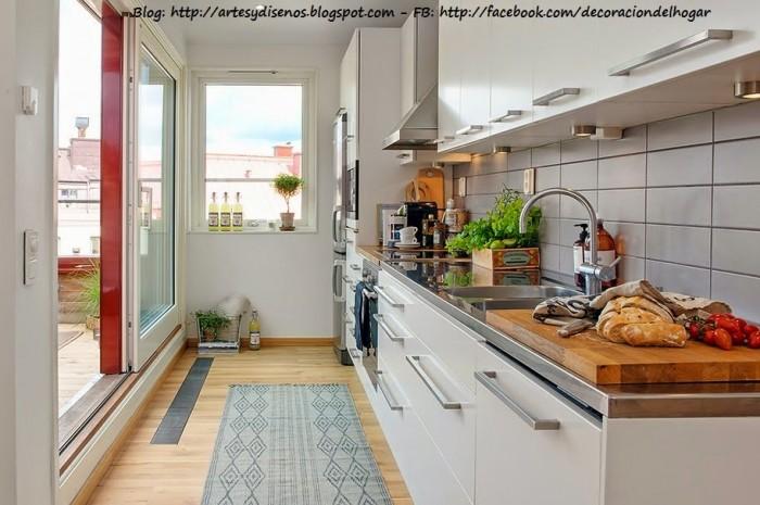 Decoración Terraza integrada con Cocina