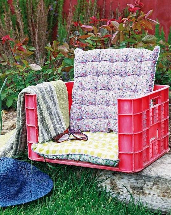 asiento-reciclado-para-el-jardín.
