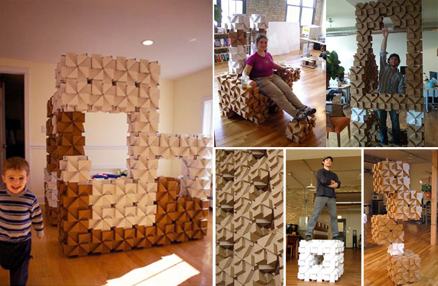 cardboard-decoration-DIY-handmade-recycle-decoración-cartón-manualidades-reciclar-cartón-bloxes-chair-bed