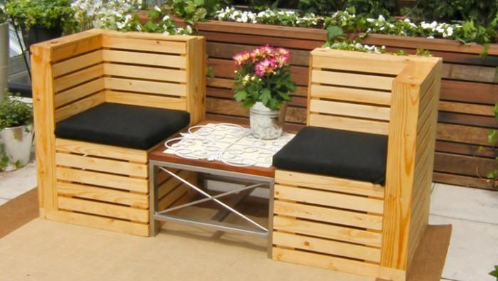 Im genes de muebles hechos con palets reciclados - Macetas hechas con palets ...
