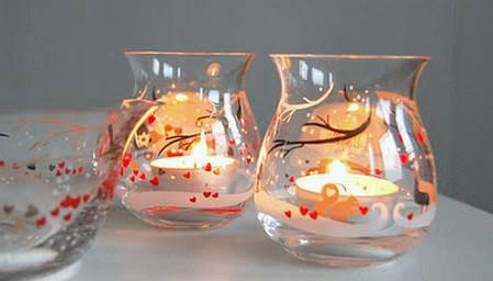 Frascos de vidrios reciclado para decorar en navidad 30 for Cosas decorativas para navidad