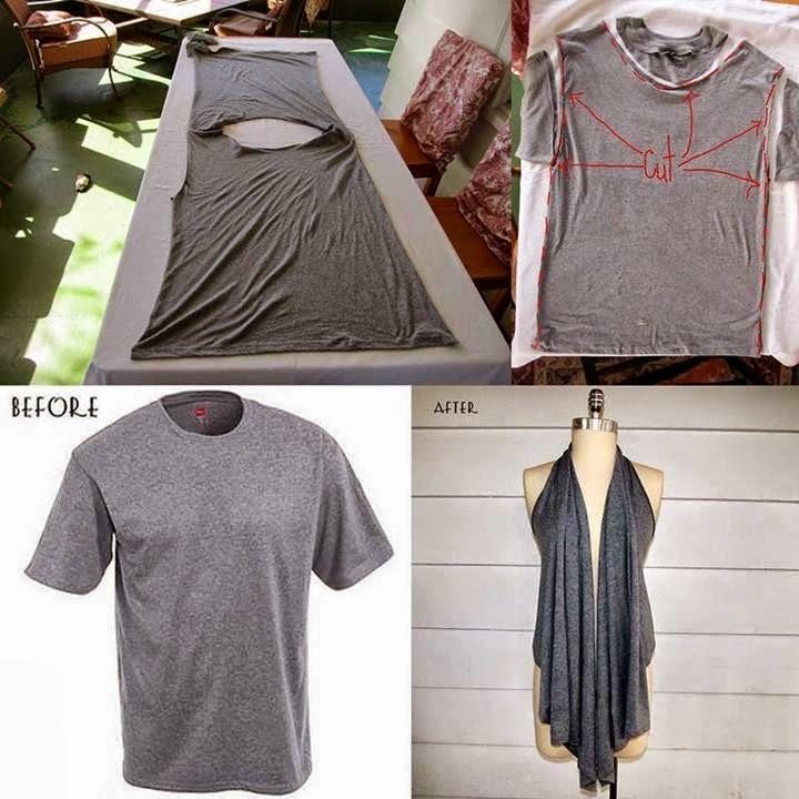 Camiseta Convertida en Prenda de Moda, Reciclaje de Ropa  1