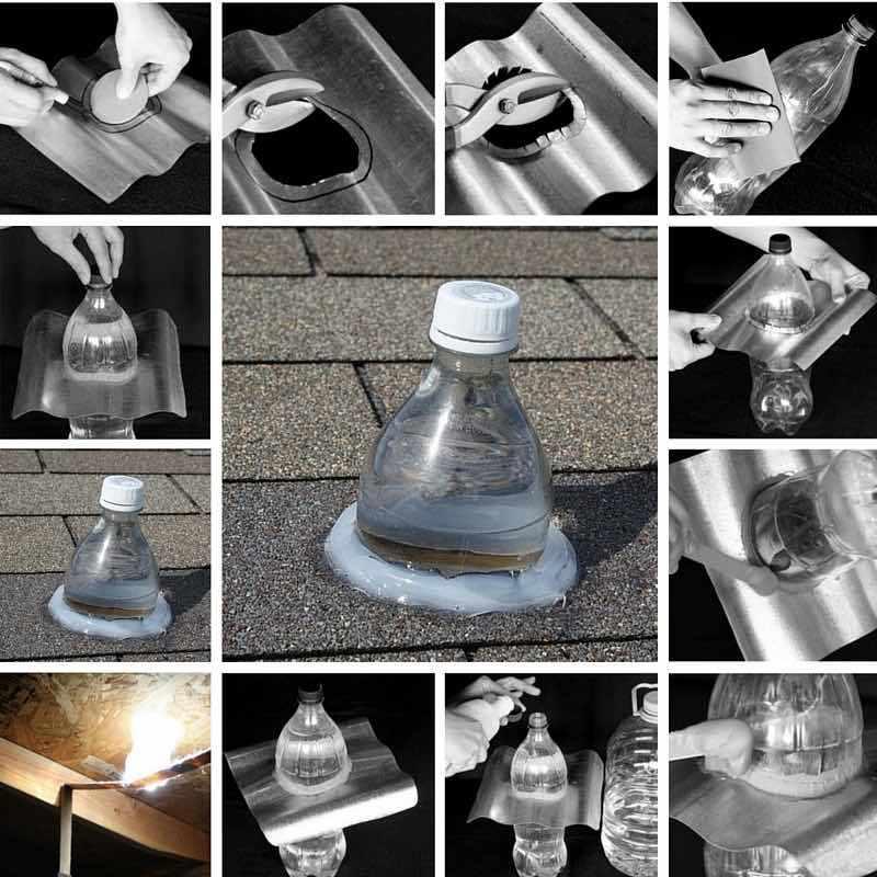 Como-convertir-botellas-de-plástico-PET-en-eficaces-lámparas