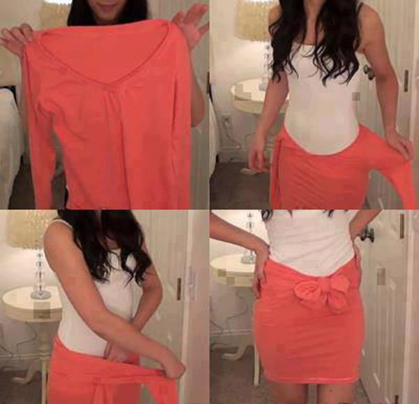 Reutilizar una prenda como falda