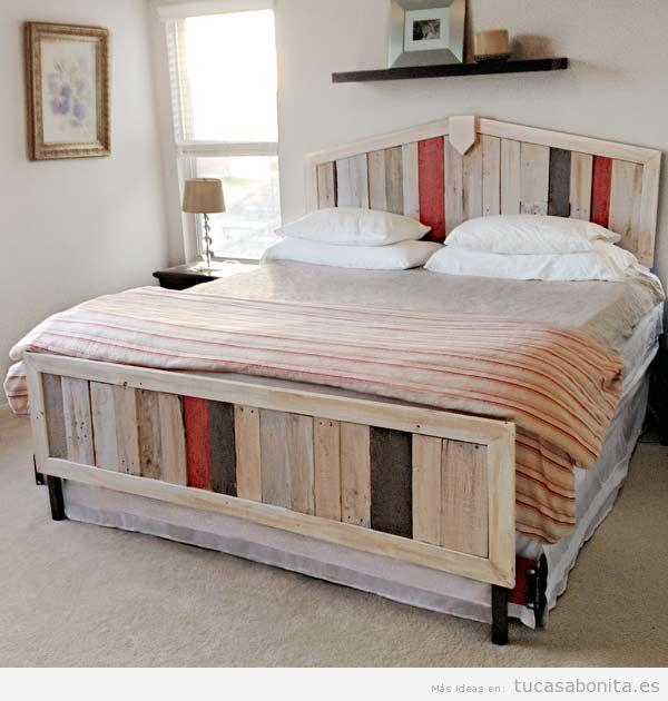 Ideas para hacer muebles reciclados cama con palets for Muebles palets reciclados