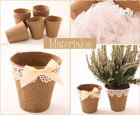 centros1. Souvenirs para boda Planta con maceta decorada 2